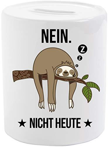 EZYshirt® Faultier | Nein Nicht Heute Spardose | Kaffekasse