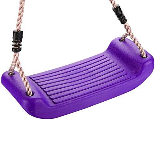 Loggyland Schaukelsitz aus Kunststoff, Kinder-Brettschaukel, für Spielplatz im Garten Kinderspielhaus, Schaukelgestell Zubehör Schaukelbrett (lila/violett)
