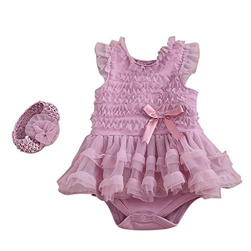 Katsaz Vestido Bebe Niña 0-3 Meses Bautizo Fiesta Encaje Flores Ropa Bebe Recien Nacido Niña Verano Bodys Bebe Niña Mono Bebés Infantil Disfraz Princesa Niña