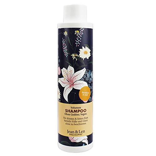 Jean & Len Philosophie Shampoo Volumen - Bambus, Lilie, für dünnes & feines Haar, verleiht Fülle und Glanz, 300 ml, 1 Stück