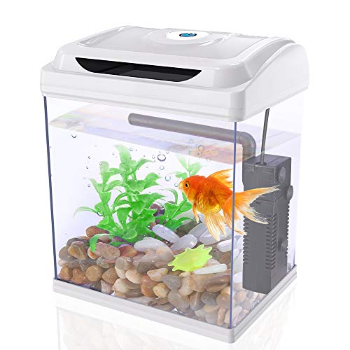 DADYPET Mini Aquarium Combattant, Aquarium Betta à LED avec Plantes...