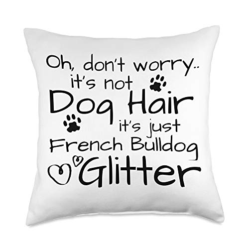 Funny Dog Owner Gifts & Dog Lover Gift Ideas Gift French Bulldog Lover Frenchie Mom Throw Pillow, 18x18, Multicolor