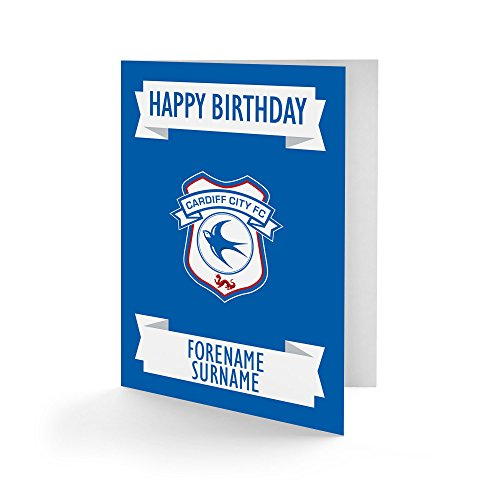 Official Personalised Cardiff City FC Crest Birthday Card