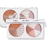 2-Pack Langmanni Double Disc Mixed Color Professional Facial Bronzers Powder Palette