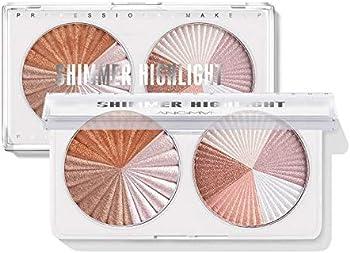2-Pack Langmanni Double Disc Mixed Color Professional Powder Palette