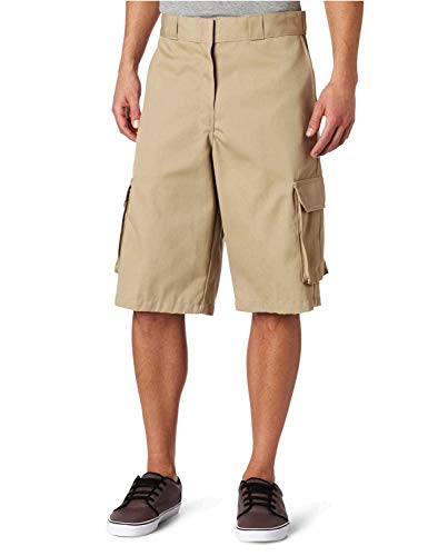 Dickies Men's 13 Inch Loose Fit Twill Cargo Short, Desert Sand, 34