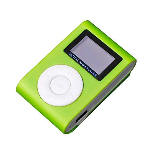 Bonbela Mini portátil de MP3 Player Sport Reproductor de música Walkman MP3 con Ranura TF Sonido Agradable Regalo