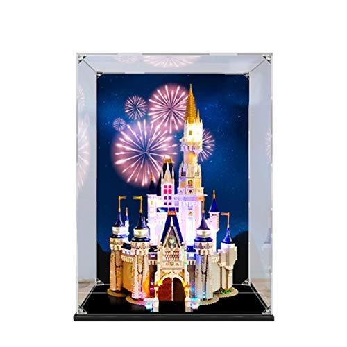 HYZM Vitrina acrílica para Lego El Castillo de Disney, caja de presentación compatible con Avec Lego Creator 71040 (no incluye el modelo Lego).