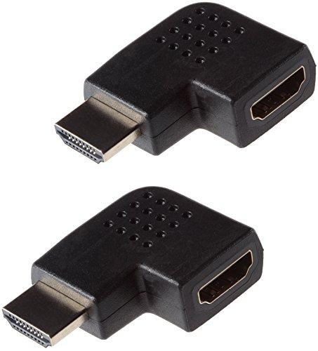 Poppstar 2X Adaptador Conector HDMI acodado 270 Grados Horizontal (Conector HDMI Macho...