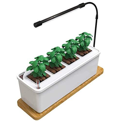 ZDYLM-Y Luces de jardín hidropónicas Inteligentes con una sincronización Clave, Maceta hidropónica Ligera de Crecimiento silencioso de Espectro Completo