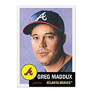 2020 Topps The MLB Living Set #341 Greg Maddux Atlanta Braves Official Baseball Trading Card ONLINE EXCLUSIVE (Stock Photo Used - NM-MT)
