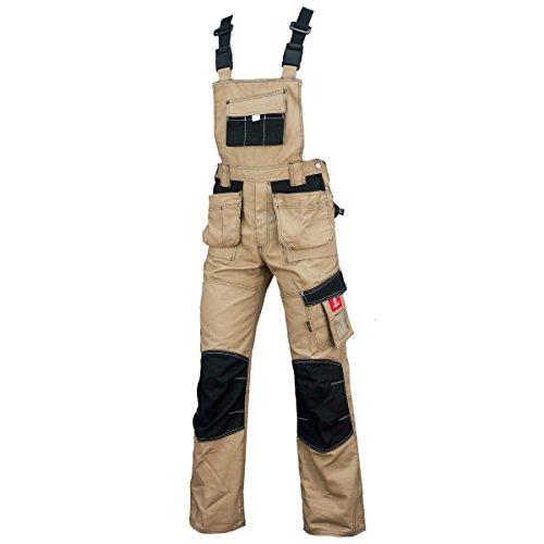Urgent Creme Latzhose Schutzhose Arbeitskleidung Arbeitshose Farbeauswahl URG-D 60