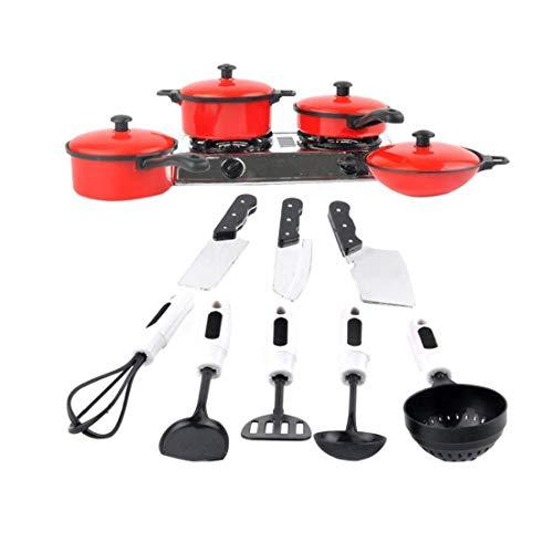 Mini Küche Kinder Spielzeug Für Kinder Kochen Pan Spielzeug Set Spielzeug Messer Und Spiele Spielzeug Kitchen Utensil Simulation Küchenzubehör Set Red 1set Ideale Wahl