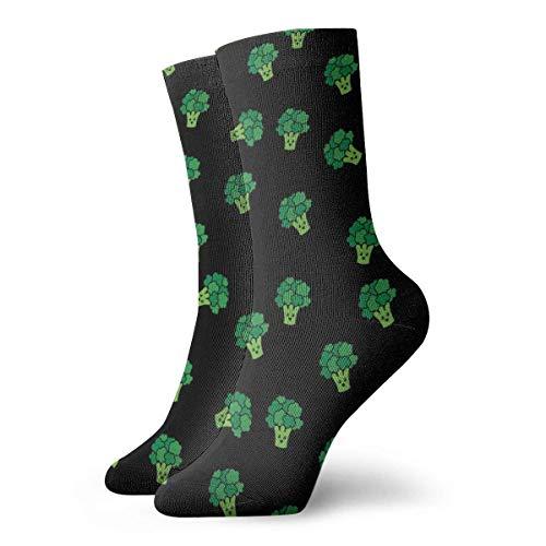 Love girl Unisex Crew Calcetines Patrón de brócoli 2 Moda Novedad Calcetines deportivos secos Medias 30cm