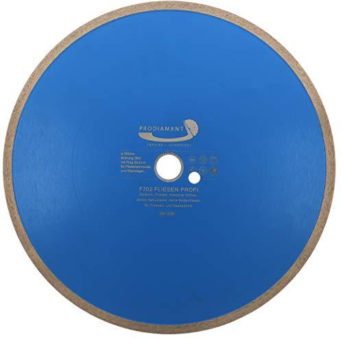 PRODIAMANT Profi Diamant-Trennscheibe PRORIM 350 mm x 30/25,4 mm kein ausbrechen bei Fliesen Feinsteinzeug Keramik F702 350mm mit Bohrung 30mm und Ring auf 25,4mm