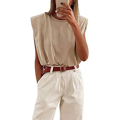 Ärmelloses Damen-T-Shirt Schulterpolster