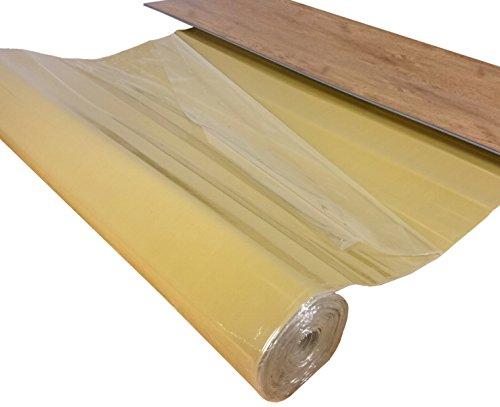 """Vinyl Unterlage\""""uficell Vinosound FIX0\"""" - Stärke: 1,5 mm - Dichte: 500 kg/m³ - Selbstklebende Trittschalldämmung für 4-5 mm Vinyl-LVT Boden ohne HDF Trägerplatte (10 m²)"""
