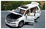 Modelo Coche 1:18 Escala para Toyota para Cruiser para LC200 Off-Road Diecast Vehee Car Coche Modelo Diecast Vehículo de metal Caja original para Niños Regalo (Color: Verde Dirección izquierda) jianyo