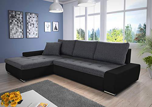 Ecksofa günstig:   Schlaffunktion Aspen – Couch Bild 2*
