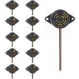 DaFuRui 10Pack Active Piezo Electric Buzzer Alarm DC 3-24V Electronic Buzzer Alarm Continuous Sound Beep