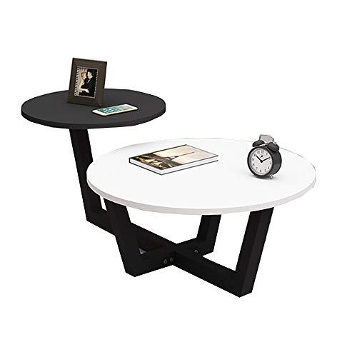 YNN Table Table Basse Ronde 2 en 1 Table d'extrémité Table d'appoint de canapé Moderne pour Salon Balcon Salle à Manger 7 Couleurs (Couleur : F)