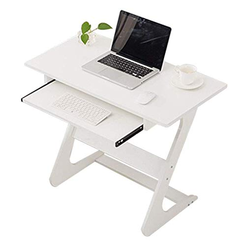 Mesas auxiliares Mesita de noche para espacios pequeños Tipo Z con cajón Mesa para portátil Mini escritorio plegable simple Escritorio de escritura Soporte para dormitorio Mesa para computadora