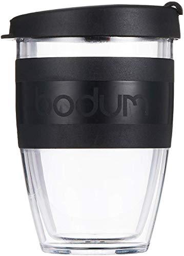 BODUM 'Joy Cup' Travel Mug, Transparent, 0.3 Litre