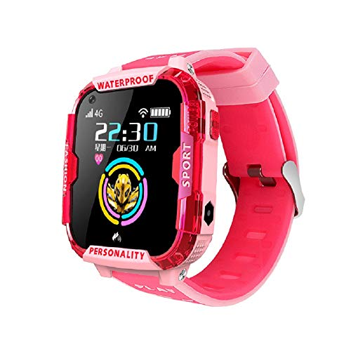 T19 Kids Smart Watch for Kids, 4G Infantil SmartWatch Teléfono GPS Tracker con posicionamiento preciso de LBS, Reloj WiFi Celular Watch con SOS Call, HD Video & Remote Toming Photor para Estudiantes