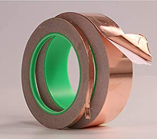 AKDSteel Double Guide Copper Foil Tape with Conductive Adhesive for EMI Shielding Slug Repellent Paper Circuits Electrical...