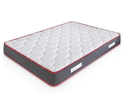 marcKonfort Matelas Ergo-Therapy 140x190 à mémoire de Forme | 18 cm Épaisseur | 2 cm de Mousse à mémoire de Forme de 65 kg/m3 | Foam AirSistem | Extrêmement Durable | Certification ISO 9001®