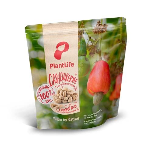 PlantLife Noix de cajou BIO 1kg – Noix de cajou brutes, non traitées et naturelles - 100% recyclable