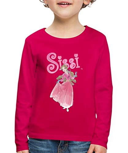 Sissi im Ballkleid Kinder Premium Langarmshirt, 134-140, Dunkles Pink
