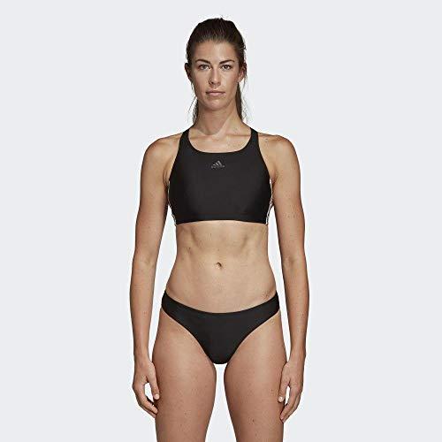 adidas Damen FIT 2PC 3S Badeanzug , Schwarz(black) , 36