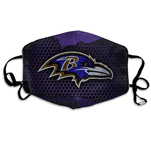 Atmungsaktive Gesichtsbedeckung Wiederverwendbare Mundschutz Baltimore-Raven Multi Usage Gesichtsdekoration Mundbedeckung