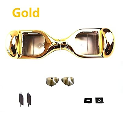 YAVOCOS Gold 6.5 inch Chrome Outer Plastic Cover Case Shell Replacement Smart Self Balance Wheel Balancing Electric Scooter Spare Parts
