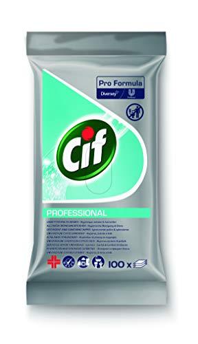 Cif Professional - Toallitas de limpieza multiusos (100 unidades, reutilizables)