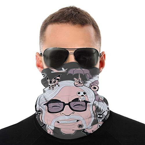 Hayao Miyazaki Tribute Studio Ghibli Variety Head Scarf Face cover Magic Headwear Neck Gaiter Face Bicycle Bandana Scar