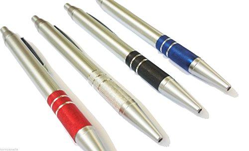 Penne personalizzate personalizzabili con il tuo nome o logo - modello Superior - penne personalizzabili impugnatura in alluminio - 100 pezzi kit assortito