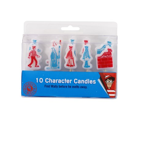 Where's Wally Character Candles, Pack of 10