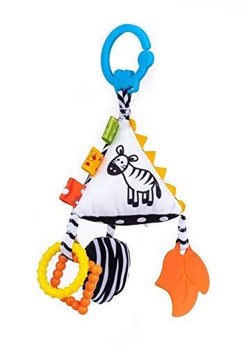 Balibazoo, 80136 Sensory Pyramid, Baby Spielzeug, Sensory Spielzeug, sensorischer Plüsch,, Kinderwagenanhänger, Kinderbettanhänger, ab 0 Monaten