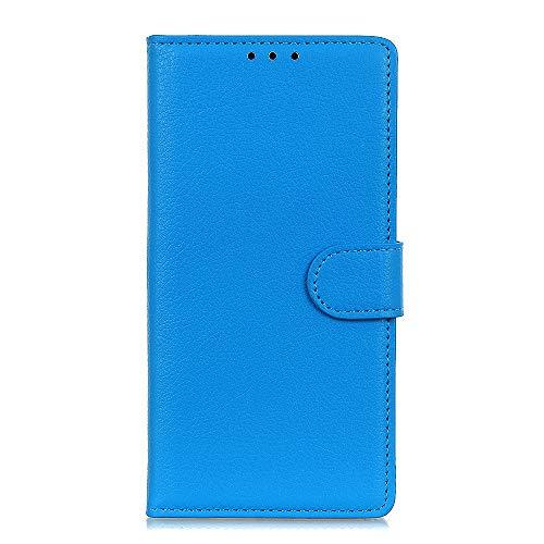 HAOYE Hülle für LG K20 2019 Hülle, Flip Wallet Case Cover, [Flip Stand/Kartensteckplatz] Anti-Rutsch Leder PU Handyhülle Schutzhülle mit Magnet/Geldbörse/Halter, Blau