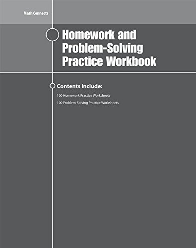 Math Connects Homework and Problem-Solving Workbook, Course 1 (MATH APPLIC & CONN CRSE)