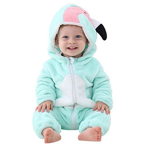 Michley Unisex Bambino Pagliaccetto Animal Cosplay Neonato Incappucciato Pigiama 0-24 Mesi nainiu-90cm
