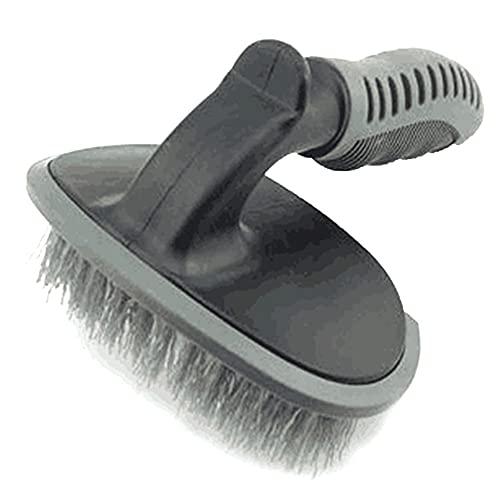 T Shape Wheel Hub Cepillo de limpieza para coche de lavado de vehículos, anillo de acero, negro