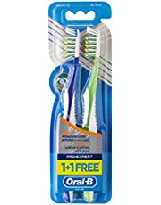 Oral B Pro-Expert Antibac Manual Toothbrush-Medium 40, Assorted, 2 Pieces