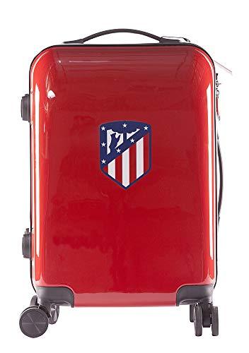Atlético de Madrid Maleta Equipaje de Mano - Producto Oficial del Equipo, Rígida y con Sistema de Cierre de Seguridad TSA