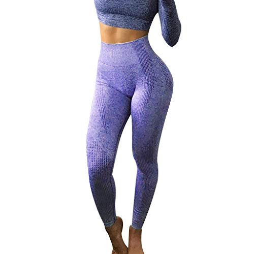Pantalones Legginns Sin Costura Leggins Mujer Pantalones Color Solido Fitness Push Up Pantalones Secado Rápido Deporte Running Yoga por Yesmile