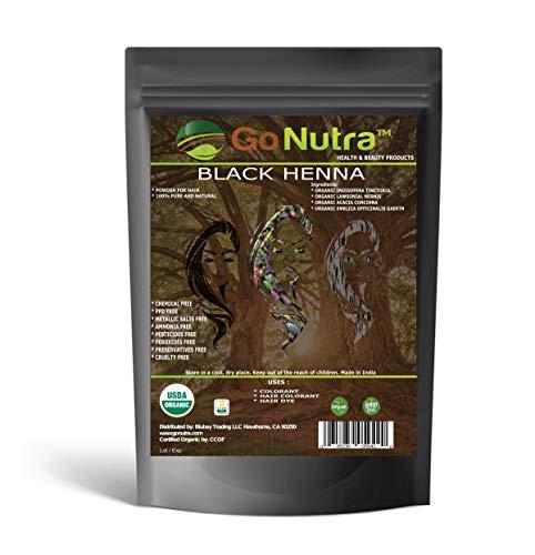 Black Henna Powder Organic 8 oz. (225 grams) Natural Black Hair Color Dye Special Herbal Formula