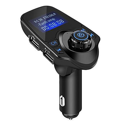 Transmisor FM Aramox, T11 Kit de manos libres inalámbrico Bluetooth para coche Reproductor de MP3 Transmisor FM Cargador USB Kit de coche Bluetooth