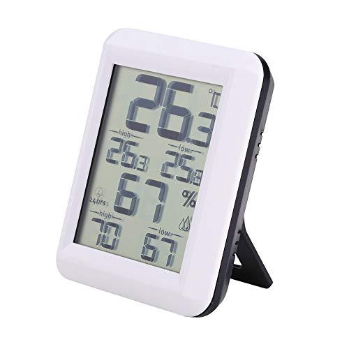 Higrómetro Digital Termómetro de Interior Monitor de Humedad con Indicador de Humedad de Temperatura Monitor de Temperatura Ambiente de Alta Precisión para Oficina Doméstica Invernadero Sótano